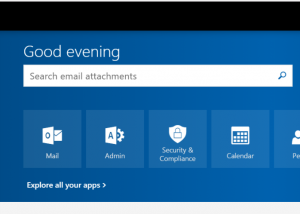 Office 365 mail button