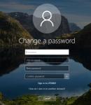 Change a password screen
