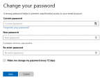 Microsoft account change password