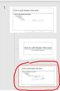Selecting a slide layout in PowerPoint